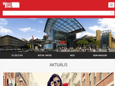 WESTEND bevásárlóközpont - applikáció és weboldalfejlesztés